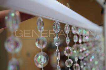 Large Cut Diamond Beaded Curtains - 3 Feet by 6 Feet - 8 Colors