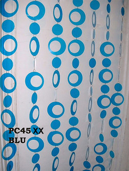 Blue Hip Circles Beaded Curtains - 3 Feet by 6 Feet