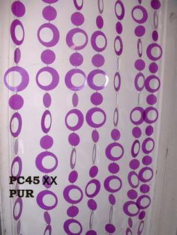 Purple Hip Circles Beaded Curtains - 3 Feet by 6 Feet