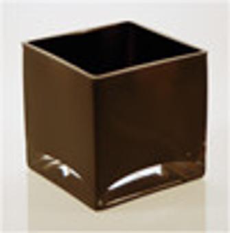 """Black Square Vase 4"""" x 4"""" x 4"""""""