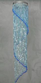 Long Spiral Beaded Chandelier Blue Color