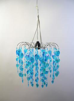Acrylic Waterfall Beaded Chandelier Blue