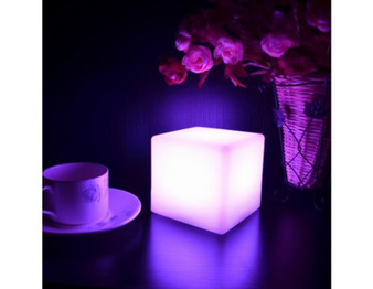 Changing Color LED Night Lamp or Table Light Centerpieces (Cube) Battery operated