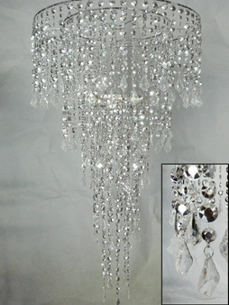 """combination of 24"""" and 10"""" chandelier HLL1418-2410-SILVER"""