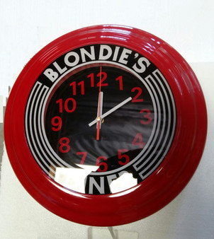 Red Blondie's Wall Retro Clock
