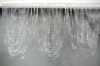 Crystal Iridescent Diamond Valence Beaded Curtain
