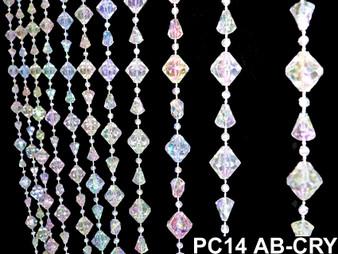 Gemstone Irid Crystal Beaded Curtain