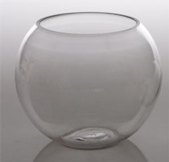 """Glass Bubble Bowl 10"""" Great as Flower Arrangement Centerpieces"""