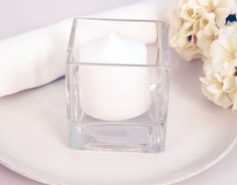"""Glass Candle Holder 3"""" x 3"""" x 3"""" Great for Table Decoration"""