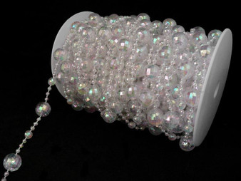 Roll Of Beads PC15 IRIDESCENT CRYSTAL