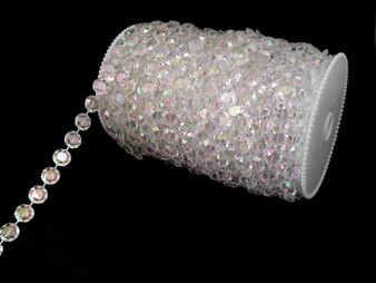 Roll Of Beads PC10 IRIDESCENT CRYSTAL BEADS