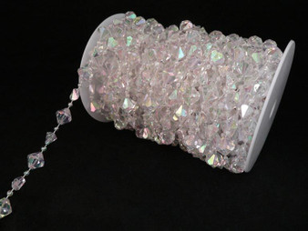 Roll Of Beads PC14 IRIDESCENT CRYSTAL BEADS