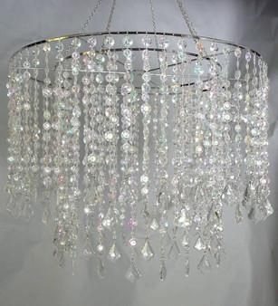 Large Multi Diamond Cut Beaded Chandeliers Crystal