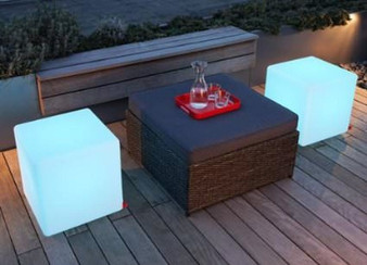 """16"""" Color Changing LED Cube Chair"""