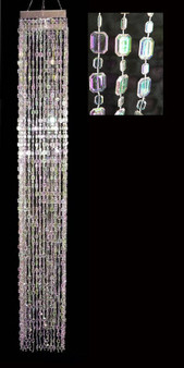 """Long 48"""" Beaded Chandelier with Our Crystal Emerald Cut Beads"""