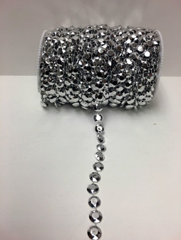 Roll Of Beads PC10 METALLIC SILVER BEADS