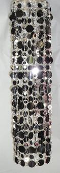 Metallic Silver PC48 Beads with Black PVC Discs