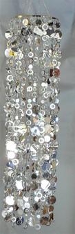 Metallic Silver PC48 Beads with Silver PVC Discs.