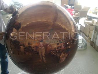 Large Copper Disco Ball