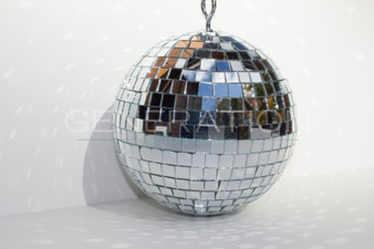 Large Silver Disco Ball