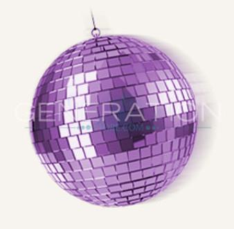 Large Purple Disco Ball