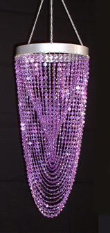 Purple Twisted Beaded chandelier