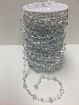 Roll Of Beads PC14N SMALL IRIDESCENT CRYSTAL BEADS