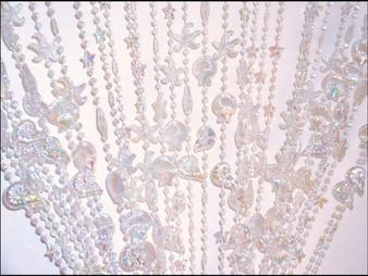 Seashell Irrid Crtstal Beaded Curtain