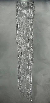 Spiral Chandelier with Acrylic Silver Beads 4 Feet Long