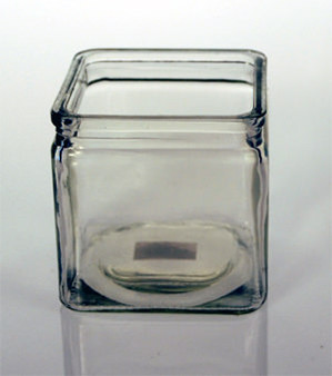 """Square Clear Candle Holder 4"""" x 4"""""""