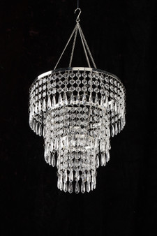 Crystal Beaded Chandelier Hand Hooked beads 3 Tiered By Generation Store