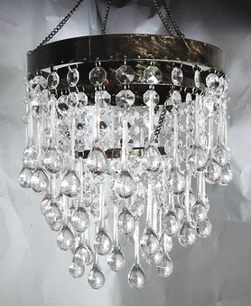 3 Tiered Crystal Large Teardrop Acrylic beaded chandelier.