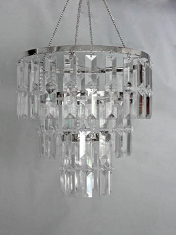 3 Tiered Sphere Acrylic-Crystal Chandelier