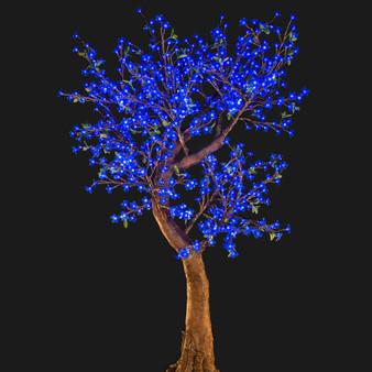 Cherry Blossom Tree 7 Feet 800 Led Lights Blue Color Morgan Style