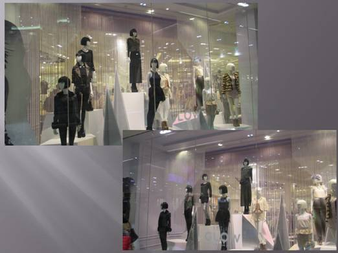 Dress Up Window display With Gold String - Fringe Curtain 3 FT Wide X 9 FT Height