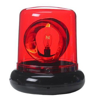 """7"""" Party Police Beacon Signal Lights - Red"""