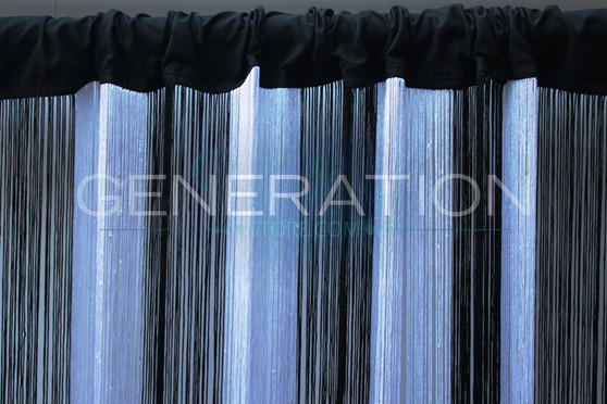 Black & White String Curtains - Up to 20 Feet Long