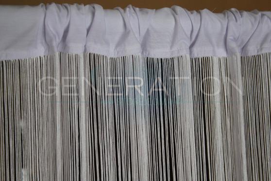 White String Curtains - 3 Feet by 9 Feet