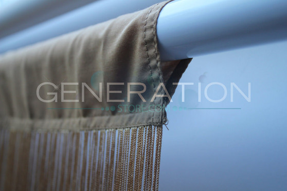 Gold String Curtains - 3 Feet by 20 Feet