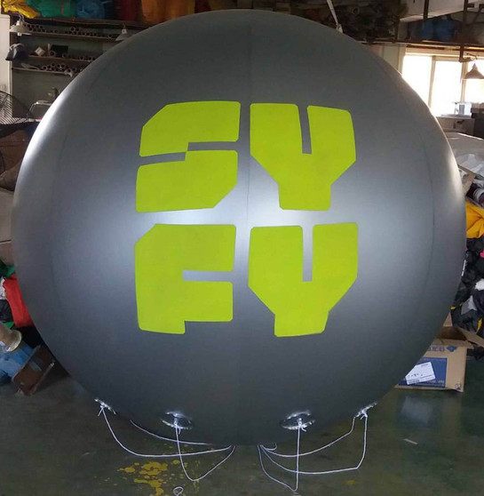 Giant balloons with Syfy logo