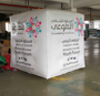 Inflatable Cube white for marketing display