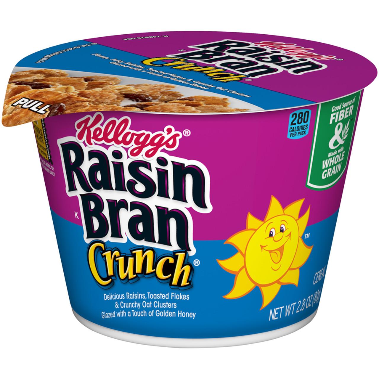 Kellogg's Cereal In A Cup, Raisin Bran Crunch, 2.8 Oz