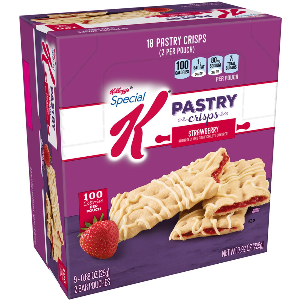 Kellogg's Special K Pastry Crisp, Strawberry, 0 88 oz  (9 Count)