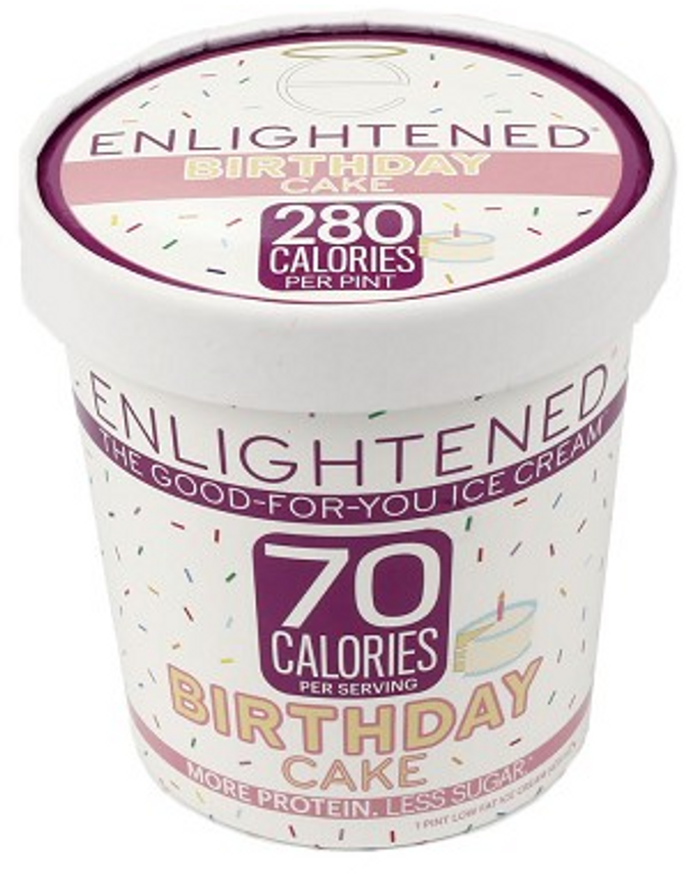 Enlightened Birthday Cake Ice Cream Pint 1 Count