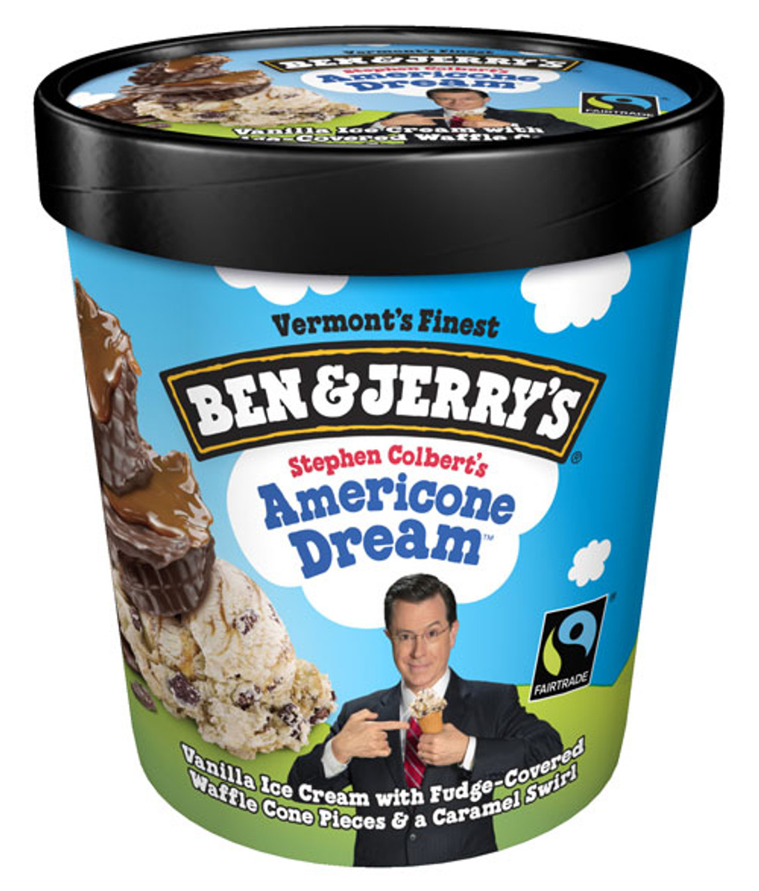 Ben Jerry S Americone Dream Stephen Colbert S Ice Cream Pint 1 Count Rocketdsd Vanilla ice cream with fudge covered waffle cone pieces and a caramel swirl. ben jerry s americone dream stephen colbert s ice cream pint 1 count