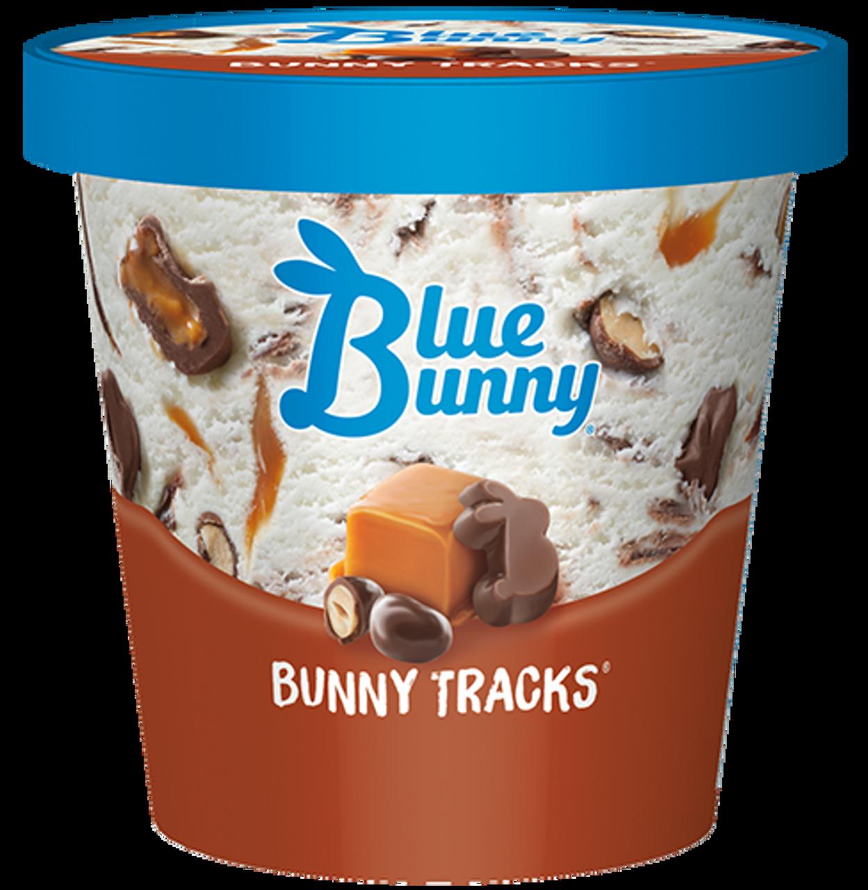 Blue Bunny, Bunny Tracks Ice Cream, pint (1 count) - RocketDSD