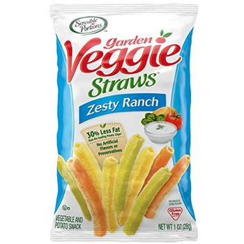 Sensible Portions, Garden Veggie Straws, Zesty Ranch, 1.0 oz. Peg Bag (1 Count)