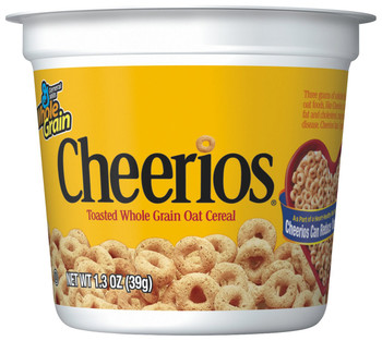 General Mills Cereal in a Cup, Cheerios, 1.3 oz. (1 Count)