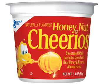 General Mills Cereal in a Cup, Honey Nut Cheerios, 1.8 oz. (1 Count)