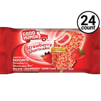 Good Humor, Strawberry Shortcake Ice Cream Bar, 4 oz. (24 Count)